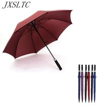 JXSLTC 27 Inch Automatic Opening Umbrella New High Quality Male and Female Creative Umbrella Golf Long Handle Large Umbrella
