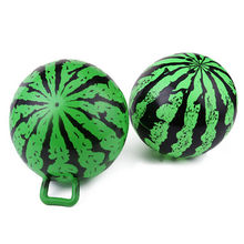 1PCS Inflatable PVC Watermelon Ball Toy Swimming Toy Ball With Handle Child Gifts Wholesale(China)