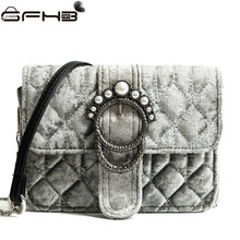 Luxury Famous Brands Women Handbags Pearl Flap Bags Fake Designer Handbag Fashion Style Velour Crossbody Bag Sac A Main Femme(China)