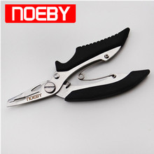 NOEBY Fishing Plier Multifunctional  Fish Tackle Alicates De Pesca Line Cutter Remove Hook Scissors Tongs