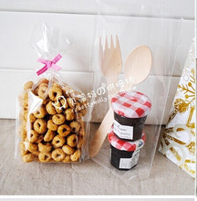 100 pcs/lot Clear Lollipops Cake Cellophane Bag / Christmas Cookies Bag / Bakery Gifts Packing 12*19CM+4 free shipping(China)