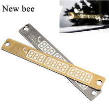 Newbee Car Styling Luminous Temporary Parking Card Phone Number Card Plate For VW Passat Toyota Camry 4Runner Avalon Honda CRV(China)