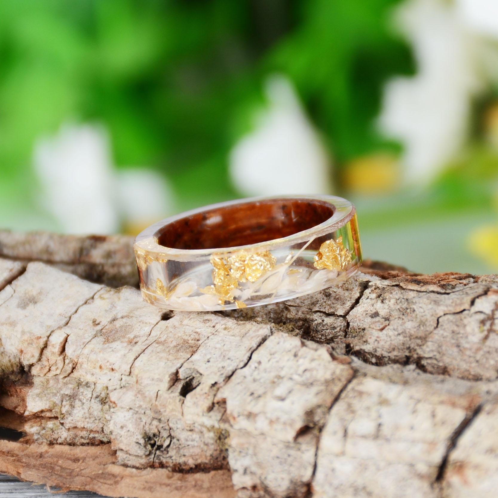 Handmade Wood Resin Ring Many Styles 39