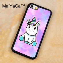 MaiYaCa Unicorn Watercolor Printed Soft Rubber Mobile Phone Cases For iPhone 5 5S Back Cover For iphone SE Shell Cover(China)