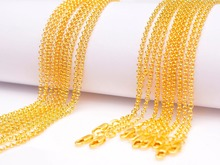 5PCS Retail Free Shipping Real 18KGF Pearl Necklace With Flexible Lobster Clasps 16-30 inches For Choice Cross Chain
