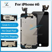 10PCS/LOT A++++ Quality Display For iPhone 6G LCD 6 plus 6s 6s plus LCD Full Assembly with Small Parts Front Camera+Sensor Flex(China)