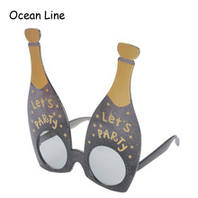 Funny Let's Party Champagne Bottle Party Favor Glasses Photobooth Props Costume Accessories Festive Party Supplies Decoration