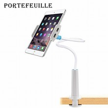 Portefeuille Gooseneck Lazy Mount Mobile Phone Holder Desktop Bed Bracket Stand Clamp for Smart Phones iPad mini iPhone 7 Plus 6