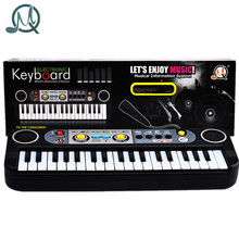 MQ 37 Key Small Electronic Keyboard Piano Musical Toy Mic Records for Children Kids Christmas Gift - Black