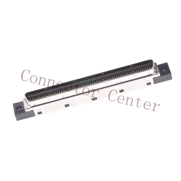 HRS SCSI Connector 1.27mm Pitch 110P Male 180 Degree Vertical  DX20EM-110P<br>