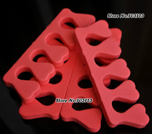 20x Sponge Foam Finger Toe Separator Nail Art PRO Salon Tool Heart Shape
