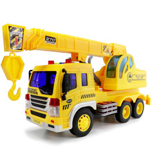 Children's Early Education Inertial Engineering Car Crane with Sound and Light Vehicle Car Model Toys best gift For Boys(China)