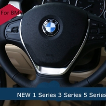 Silver Matt Car Styling Steering Wheel Decoration Circle Cover Stickers for BMW F30 118i 320li M line 1 3 5 Series Accessories(China)