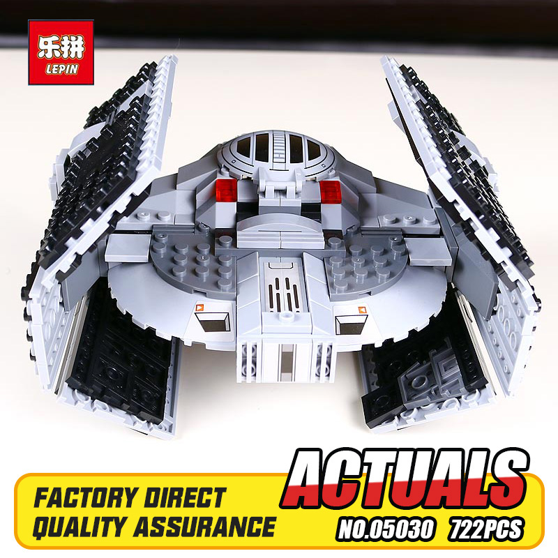 722Pcs LEPIN 05030 Star Wars Vader Tie Advanced VS A-wing Starfighter 75150 Building Blocks Compatible STAR WARS Brithday Gifts<br>