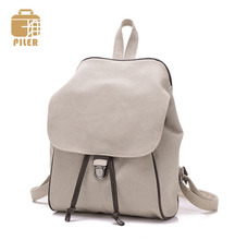 2016 Simple Fashion Korean style women backpack vintage casual  canvas student schoolbag luxury brand travel Daily Backpack