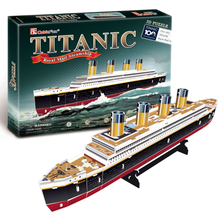 T0423 3D Puzzles Titanic ship DIY Paper Model kids Creative gifts Children Educational toys Ordinary version