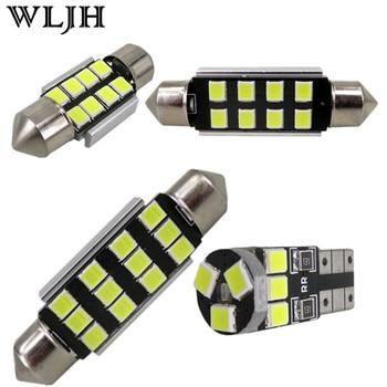 WLJH 12x Pure White Canbus Mirror Light LED Interior Lighting Kit For Volkswagen VW GOLF MKV MK5 5 Golf GTI 2006 2007 2008 2009