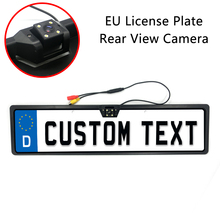 EU Europe European License Plate Rear View Camera Reversing Parking Backup Camera HD Night Vision Wireless Wired CCD Car Camera
