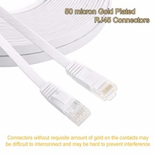 25cm 3ft1.5ft 1m 2M 3m 10ft 5m 10m 15m 20m 30m cable CAT6 Flat UTP Ethernet Network Cable RJ45 Patch LAN cable black white color