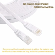 25cm 3ft1.5ft 1m 2M 3m 10ft 5m 10m 15m 20m 30m cable CAT6 Flat UTP Ethernet Network Cable RJ45 Patch LAN cable black white color(China)
