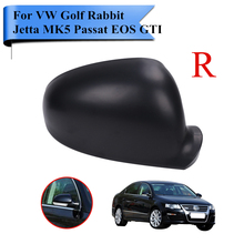 Car Accessories For VW Golf Rabbit Jetta MK5 Passat EOS GTI DOOR SIDE MIRROR CHROME COVER CAP Black primed Right Side #9416-R