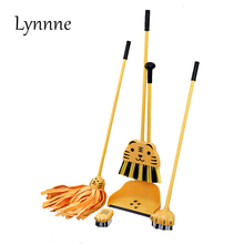 Lynnne Mini Broom Dustpans Mop Set for Kids Sweep Floor Clean Dust Cute Children Broom Cleaning Brush Household Cleaning Tool(China)