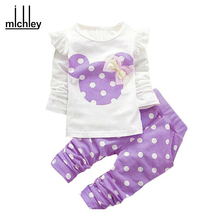 christmas 2017 winter style kids clothes Newborn baby clothing sets cotton Minnie casual suits 2pcs baby girl clothes baby set
