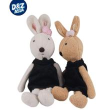 Black Hanbok rabbit models plush washable le sucre sugar rabbit doll plush toys manufacturers and wholesale