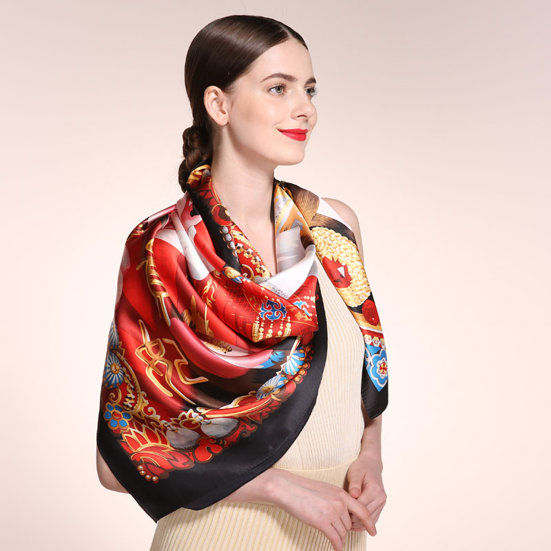 Top grade Luxury 2017 Autumn 16m/m 100% silk scarf, Infinity 110cm*110cm Summer Scarves women brand scarfs shawl,hijab
