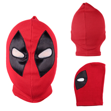 Halloween Deadpool mask Cosplay Costume Lycra Spandex Mask Red / Red Adult sizes Party supplies Deadpool knitted caps