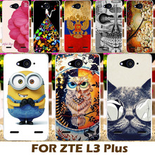 Akabeila Top Selling Painting Design Hard Plastic Case For ZTE Blade L3 Plus Phone Cover Protective Sleeve Shell Funda