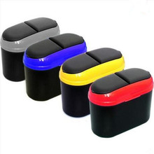 Mini Square Car Trash Bin Rubbish Car Trash Garbage Holder Trash Can for VW Skoda Seat Fiat for Bmw Benz Audi Great Wall Chery