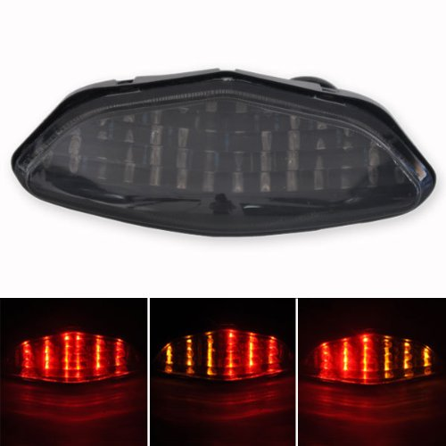 Motorcycle Smoke LED Tail Light With Turn Signals For 2003-2008 Suzuki DL 650 1000 V-Strom<br>