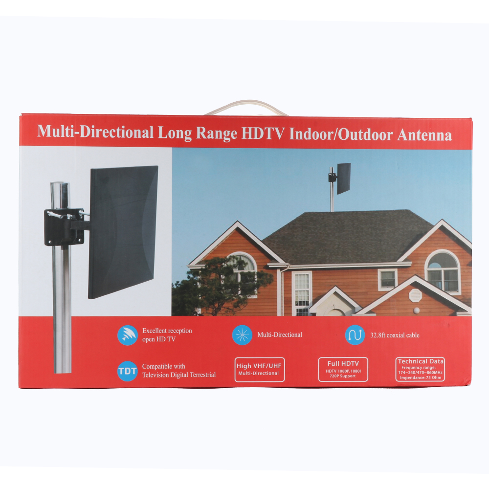 Antena Digital HDTV 160miles IndoorOutdoor Amplified TV Antenna Antena TV Surf with Detachable Amplifier Signal Booster 32.8ft Coax Cable (7)