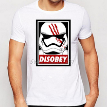 New Arrive Star Wars darth vader T-Shirt Men/Boy Disobey Printed T shirt Fashion stormtrooper Cool Tee Shirt Tops