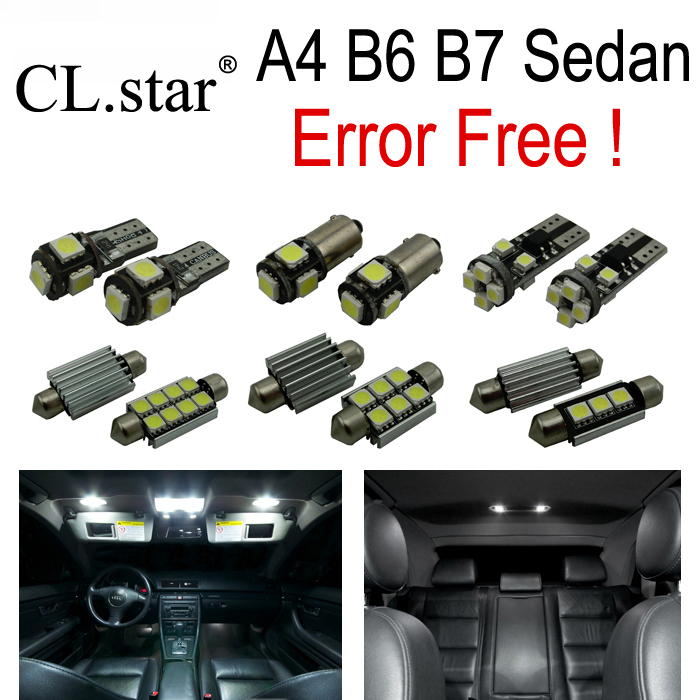 20pc X Canbus Error Free LED interior light Kit Package for Audi A4 S4 RS4 B6 B7 Quattro Sedan Convertible ONLY  (2002-2008)<br>