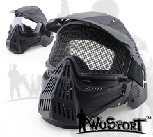 New coming Airsoft Tactical Guard Mask Paintball Hunting Full Face Protect Mesh Mask Goggles ABS material