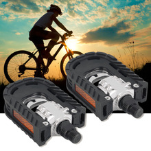 Universal Aluminum Alloy Mountain Bike Bicycle Folding Pedals Non-slip free shipping(China)