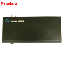 Nsendato HDMI Matrix 4x2 Splitter Switch Converter 4 in 2 out L/R RCA Audio Output Switcher Splitter with IR Remote