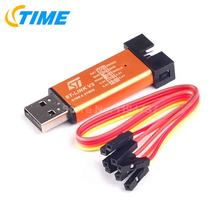1PCS ST-Link V2 stlink mini STM8STM32 STLINK simulator download programming With Cover Color random