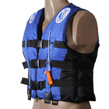 Water Sports Outdoor Polyester Adult Life Jacket Swimming Boating Ski Drifting Prevention Vest Survival Suit With Whistle(China)