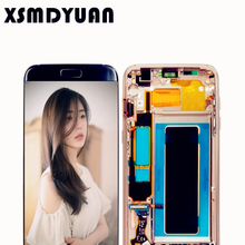 Black 5.5'' Replacement 100% Tested SUPER AMOLED Display For SAMSUNG GALAXY S7 edge G935f G935fd LCD Screen Assembly + Frame(China)