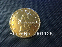 1854-0 LIBERTY HEAD (NO MOTTO ON REVERSE) $20 Gold one Dollar Copy Free Shipping Exact Coin