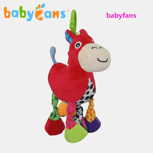 Baby Plush Early Education Music Toys Pony Rattles Music Pulling Bell Toy Baby Development Gifts Plush Toys with Jingle Bells(China)