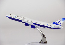 plane model Boeing 747-400 United Airlines aircraft B747 Metal simulation airplane model for kid children toys Christmas gift