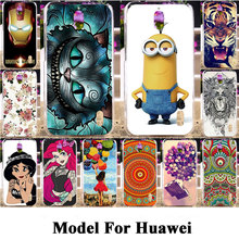 Silicon Plastic Phone Covers Cases For Huawei Ascend Y625 Mate 7 3 8 2 Mate3 Mate7 Mate8 Mate2 Housing Bag Shell Cat Tiger Case