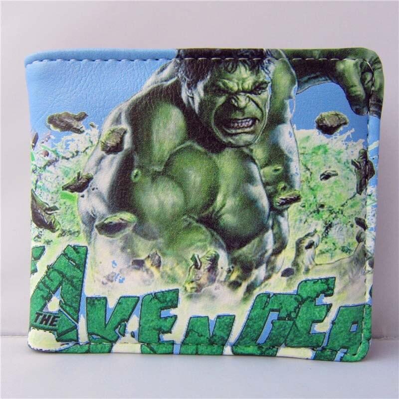 Free Shipping American Movie Folding Wallet/Muscular Hulk High Quality Short PU Purse<br><br>Aliexpress