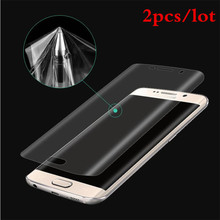 2pcs/lot 3D Full Coverage Curved Screen Protector For Samsung Galaxy S7 Edge S6edge S6 edgeplus Soft PET Not tempered Glass Film