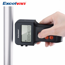Excelvan 5-in-1 LCD Detector Ultrasonic Distance Meter with Laser Pointer Moisture DC Volt Meter Metals AC Live Wires Detector