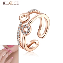 Finger Nail Ring Fashion Pop Korean Micro Inlay Silver Plated Joint Resizable Round Inlay Cubic Zirconia Nail Toe Ring Women